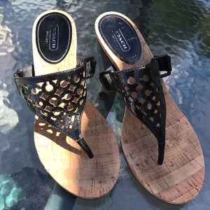 Coach Wedge Sandal size 8